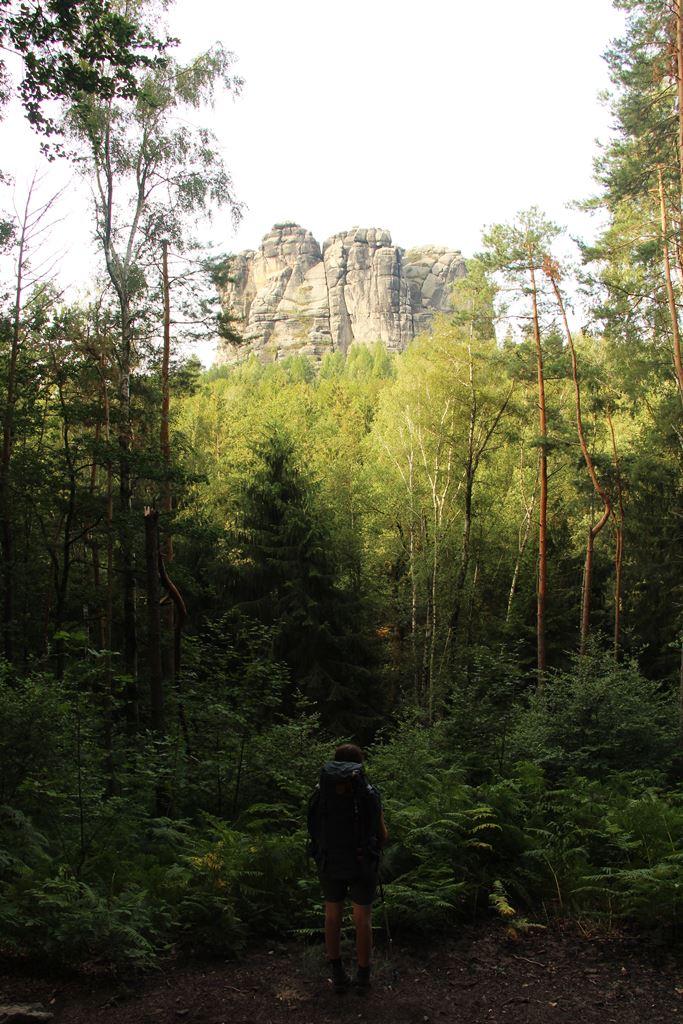Locke blickt auf die Schrammsteine Malerweg