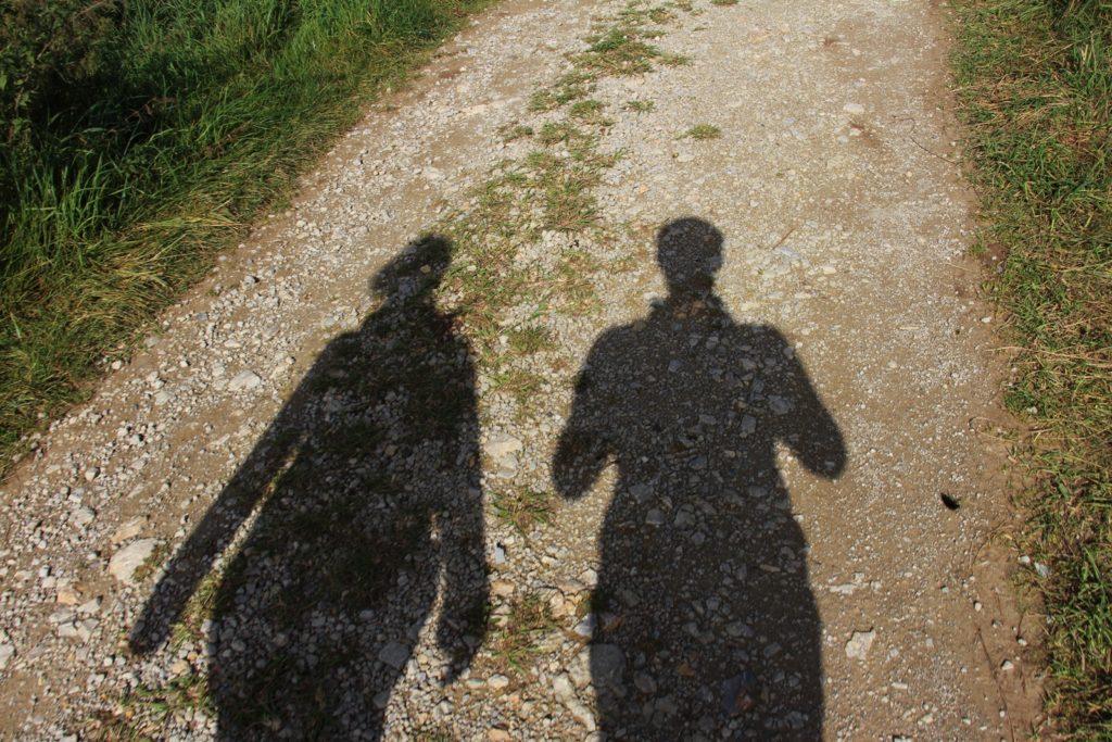 Schatten auf dem Meraner Höhenweg