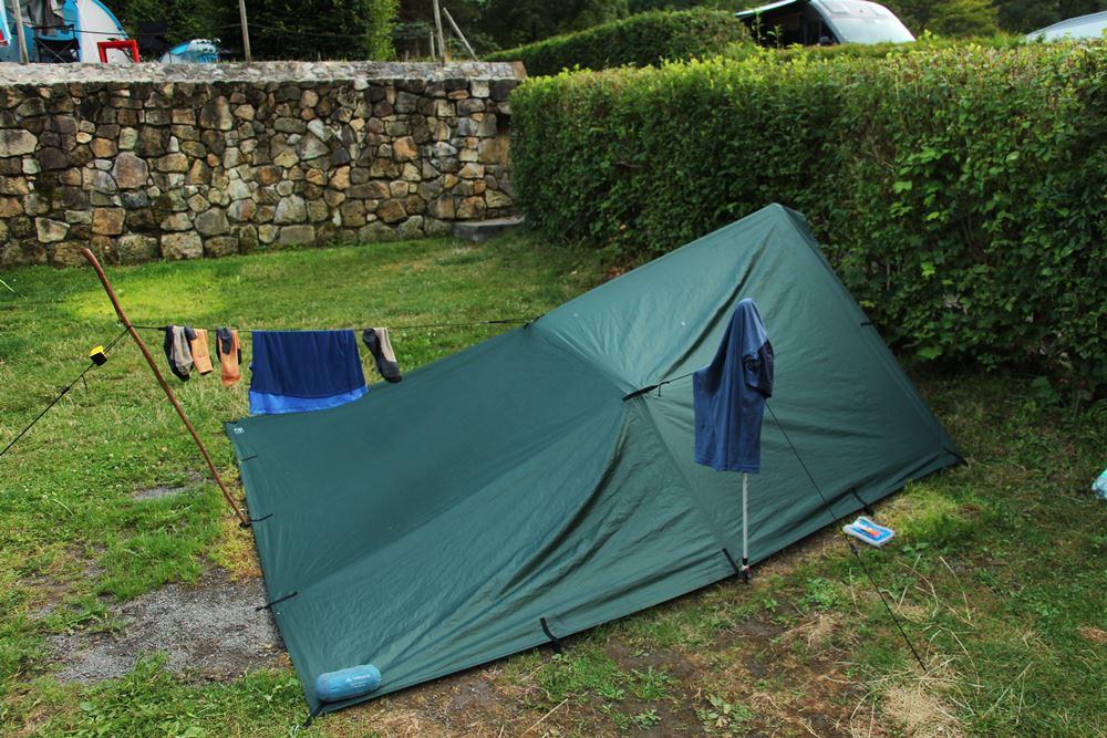 Unser Zelt am Malerweg