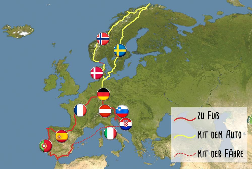 Locke und Hut Reiseblog Vorgeschichte Europareise