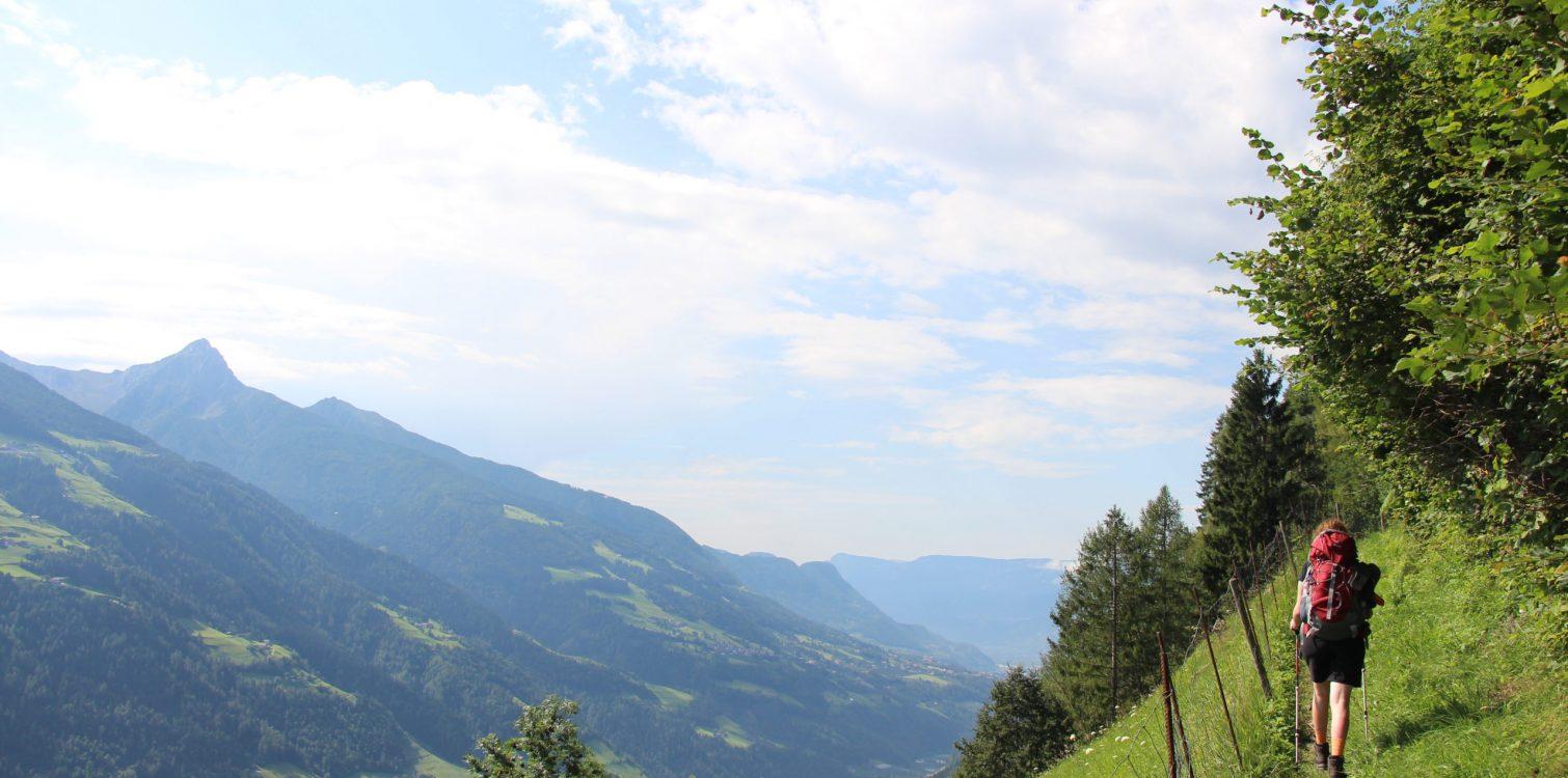 Überblick Meraner Höhenweg Etappe 4